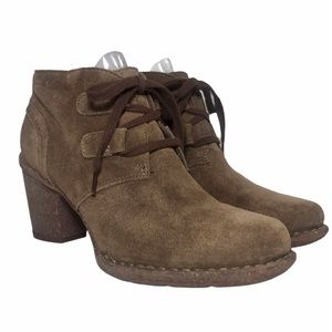 CLARKS ARTISAN 21621 Suede High Heel Desert Boots